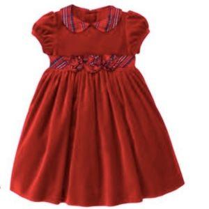  Janie & Jack Rosette Velveteen Dress 3T